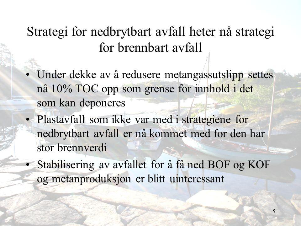 Strategi for nedbrytbart avfall heter nå strategi for brennbart avfall
