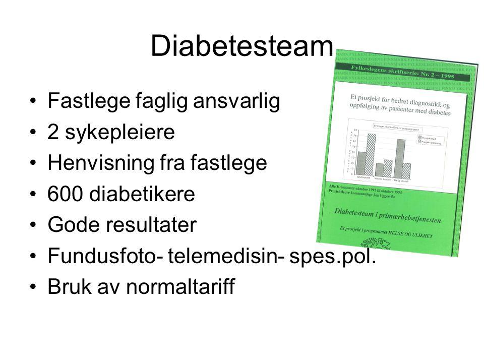 Diabetesteam Fastlege faglig ansvarlig 2 sykepleiere