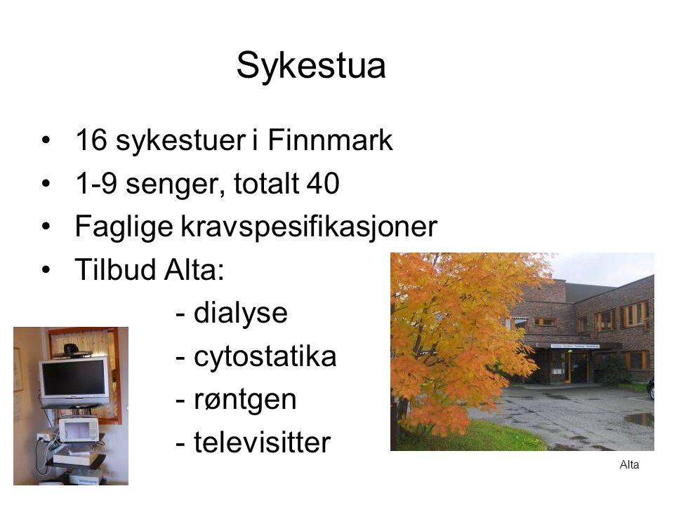 Sykestua 16 sykestuer i Finnmark 1-9 senger, totalt 40