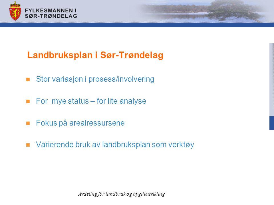 Landbruksplan i Sør-Trøndelag
