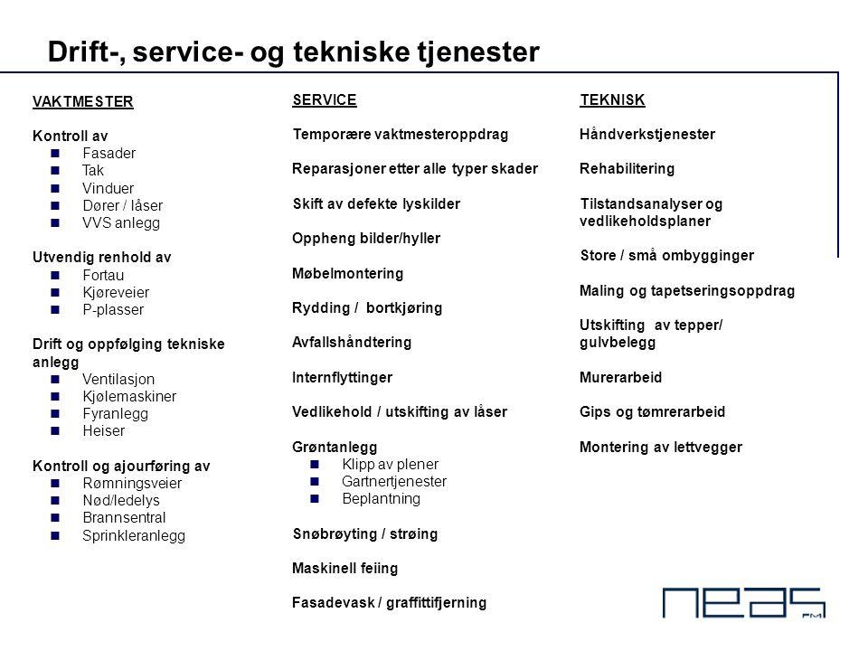 Drift-, service- og tekniske tjenester