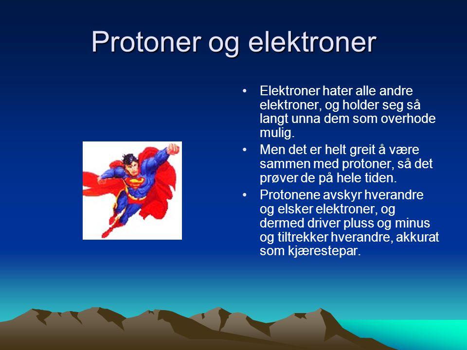 Protoner og elektroner