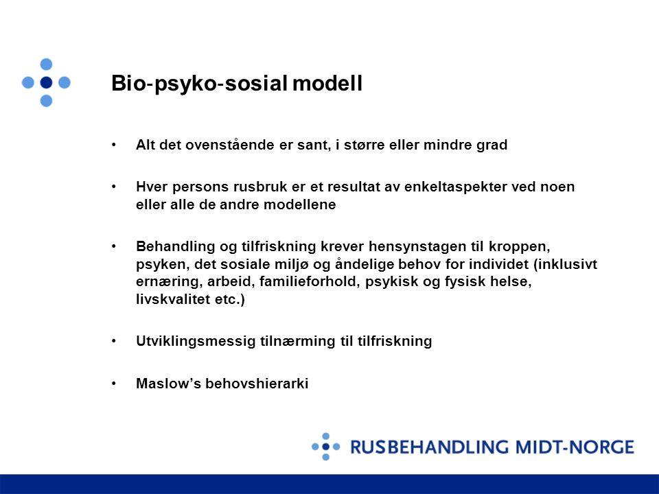 Bio‐psyko‐sosial modell