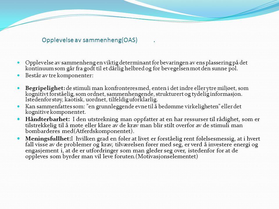 Opplevelse av sammenheng(OAS) .
