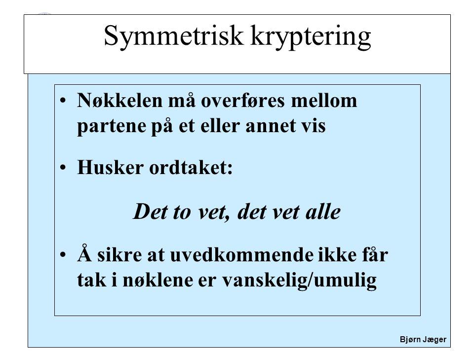 Symmetrisk kryptering
