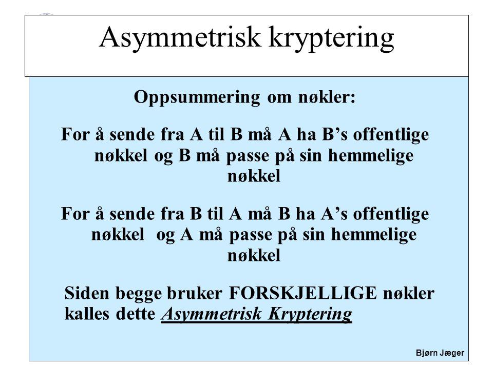 Asymmetrisk kryptering