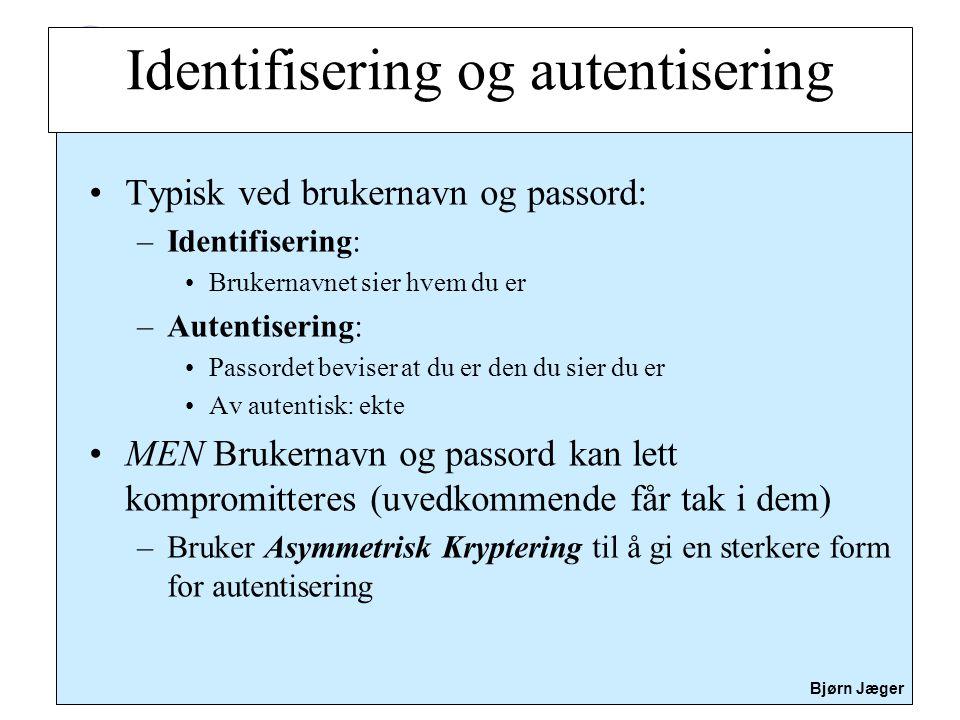 Identifisering og autentisering