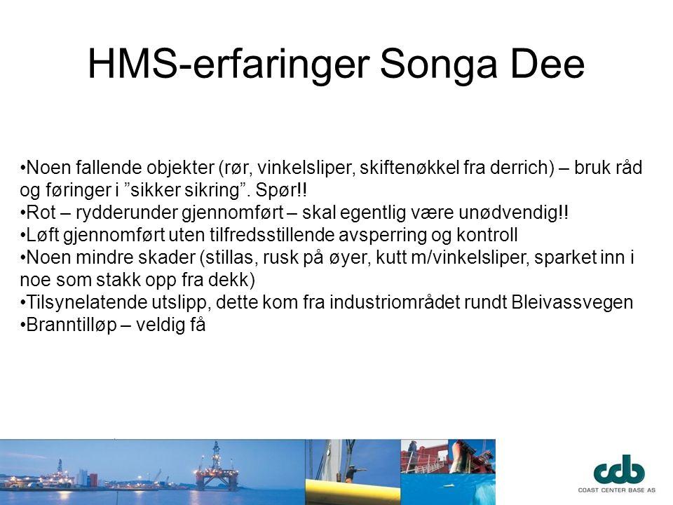 HMS-erfaringer Songa Dee