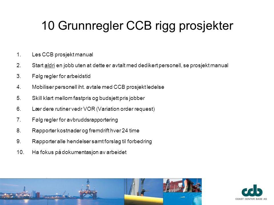10 Grunnregler CCB rigg prosjekter