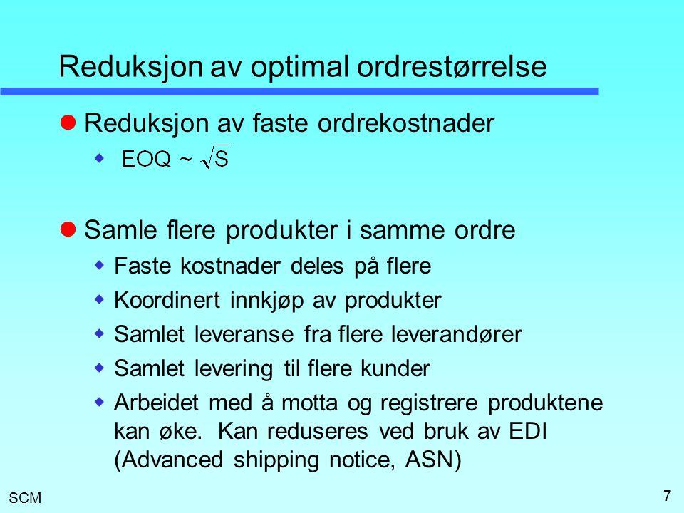 Reduksjon av optimal ordrestørrelse