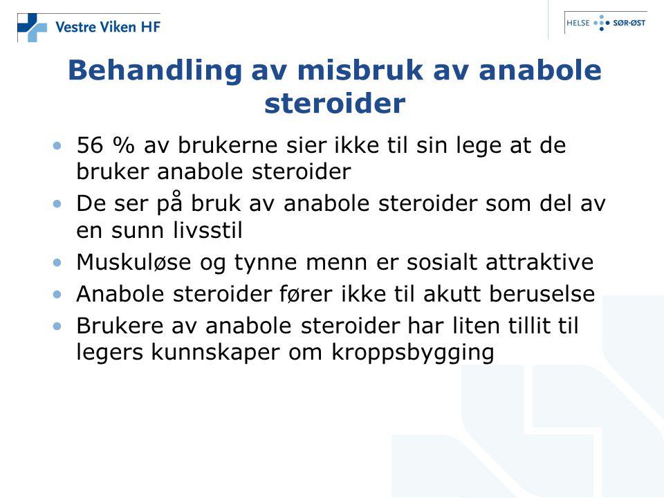 Behandling av misbruk av anabole steroider
