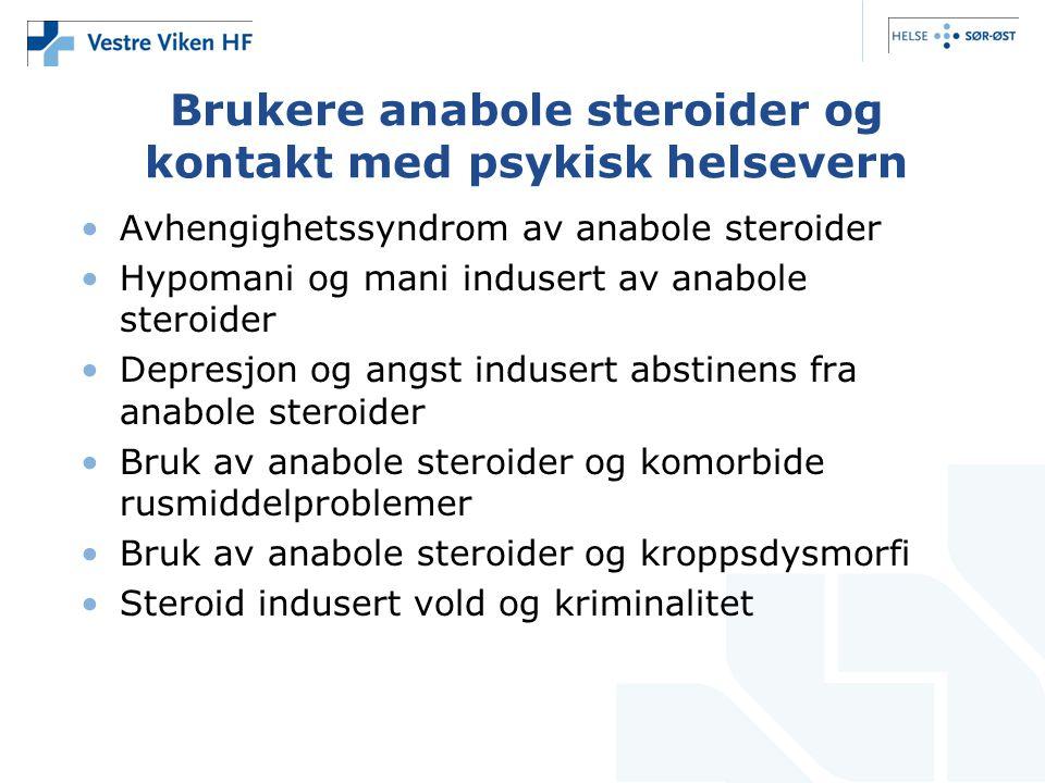 Brukere anabole steroider og kontakt med psykisk helsevern