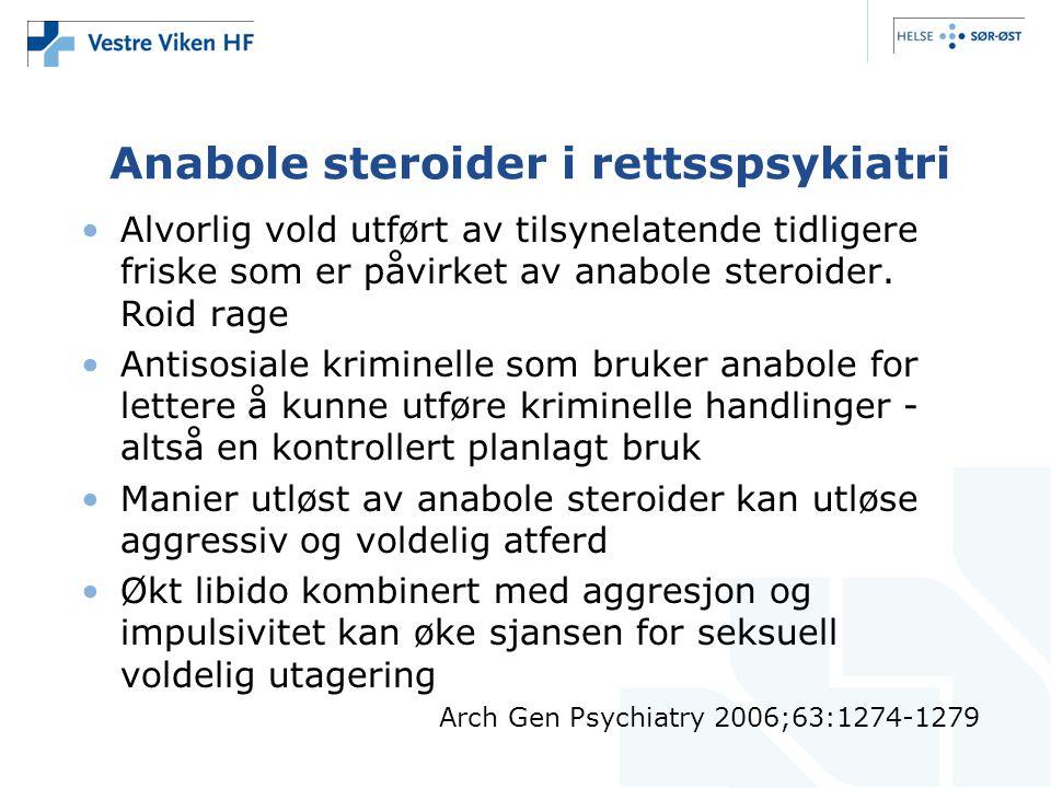 Anabole steroider i rettsspsykiatri