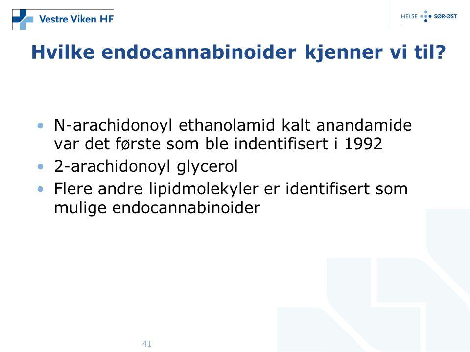 Hvilke endocannabinoider kjenner vi til