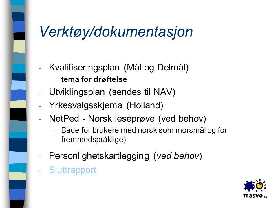 Verktøy/dokumentasjon