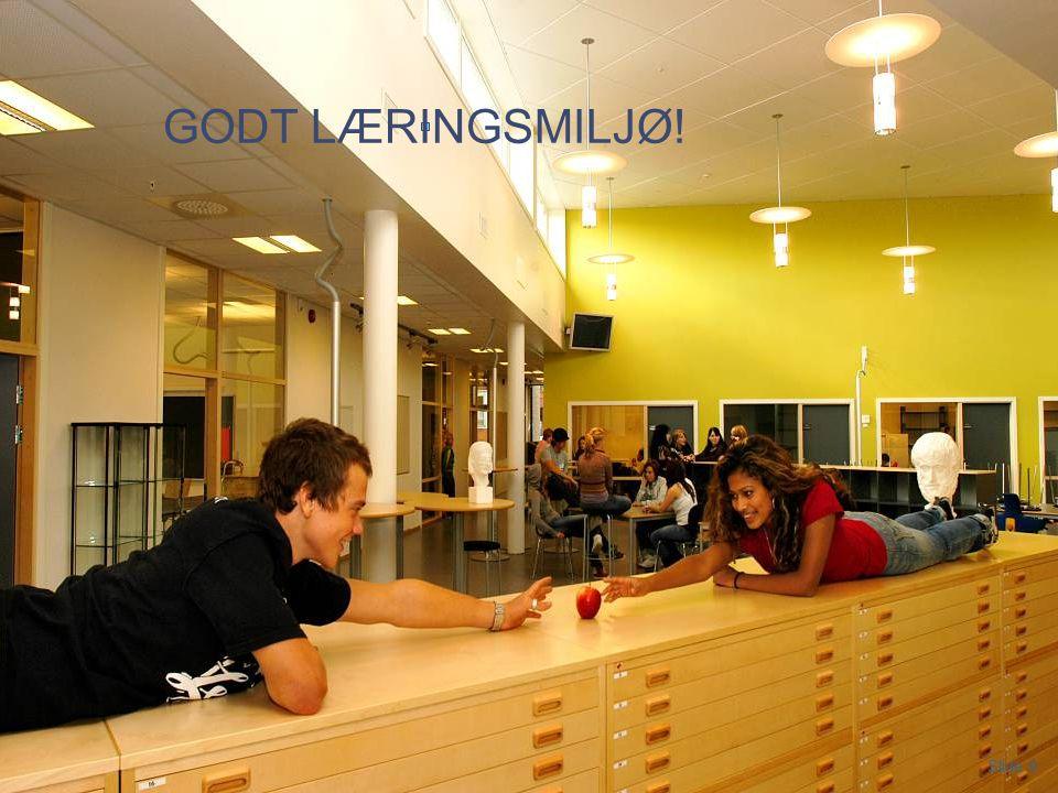 GODT LÆRINGSMILJØ! Porsgrunn videregpående skole 2012 Slide 9