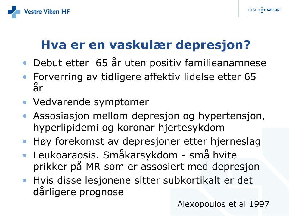 Hva er en vaskulær depresjon