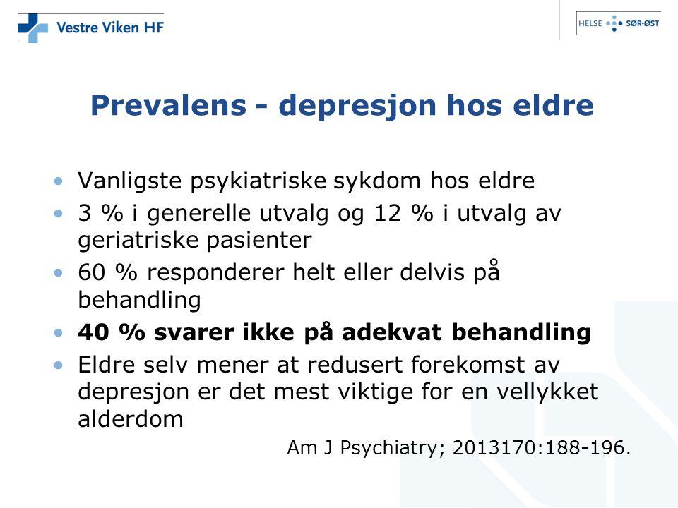 Prevalens - depresjon hos eldre