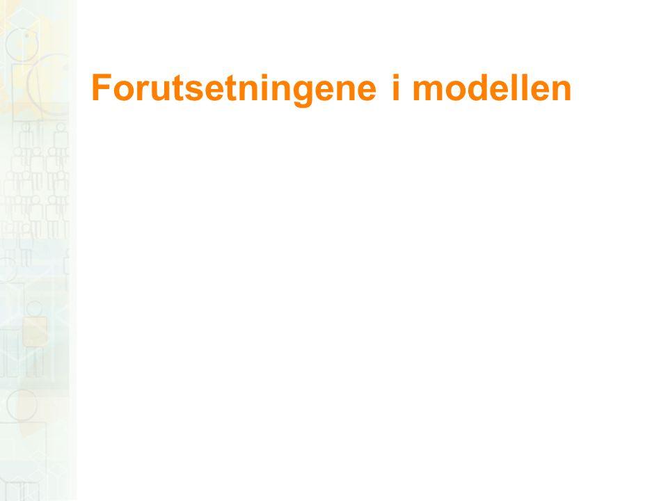 Forutsetningene i modellen