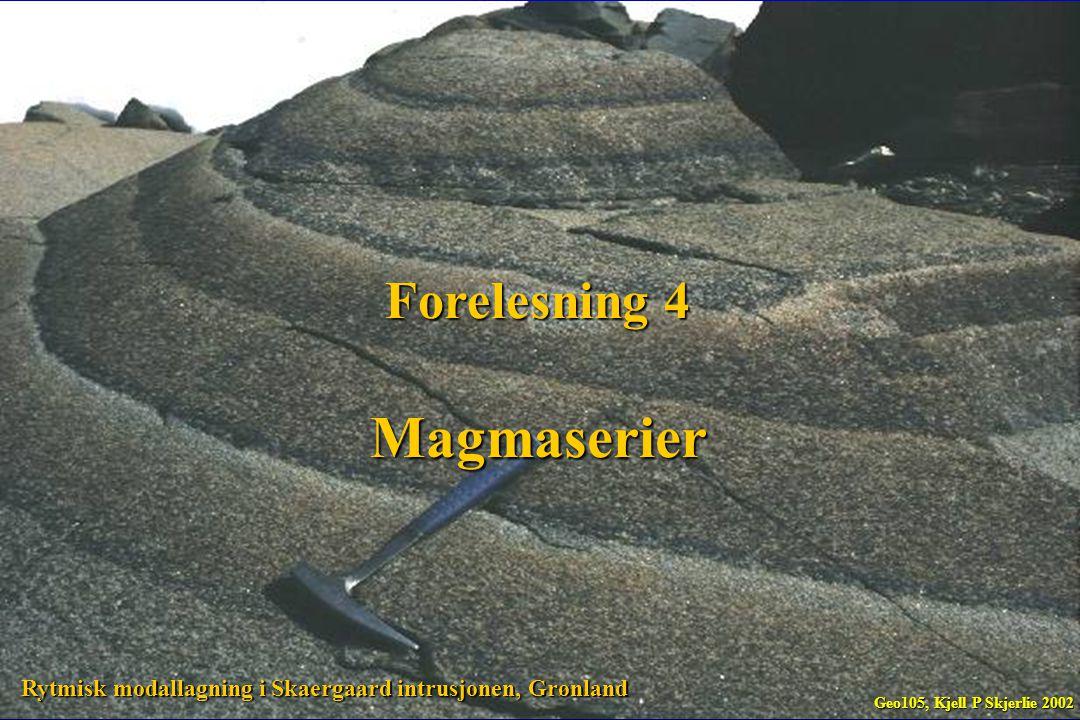 Magmaserier Forelesning 4