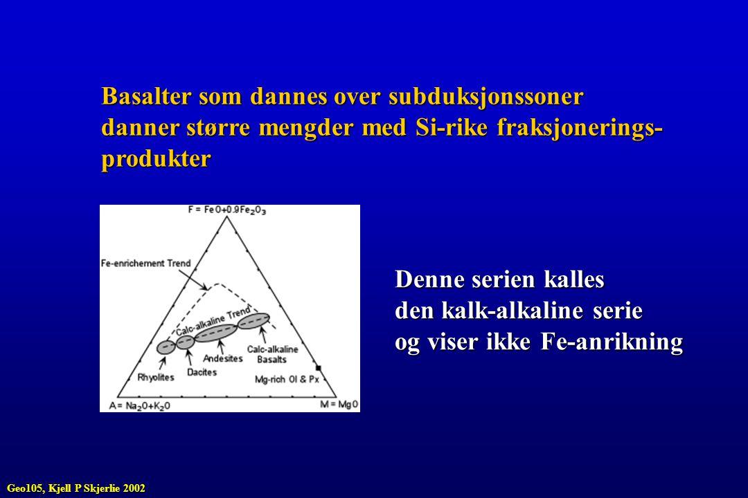 Basalter som dannes over subduksjonssoner