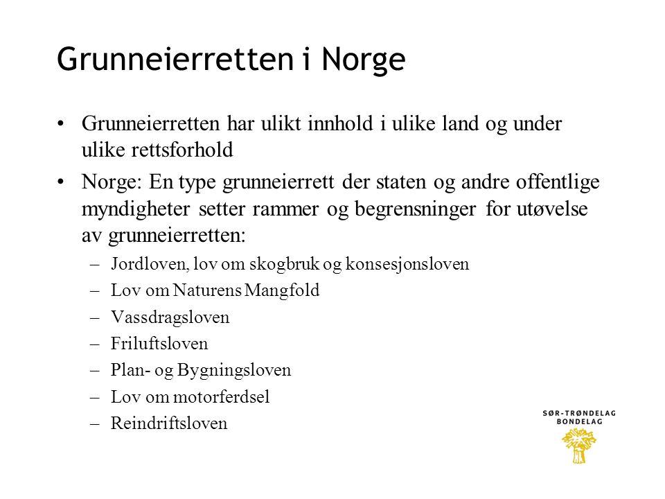 Grunneierretten i Norge