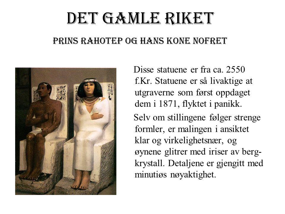 Prins Rahotep og hans kone Nofret