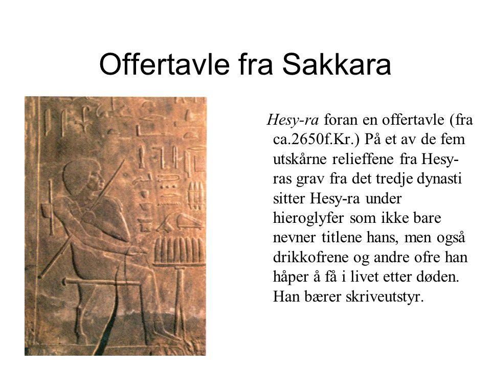 Offertavle fra Sakkara