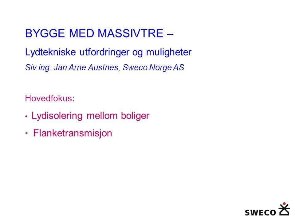 BYGGE MED MASSIVTRE – Lydtekniske utfordringer og muligheter