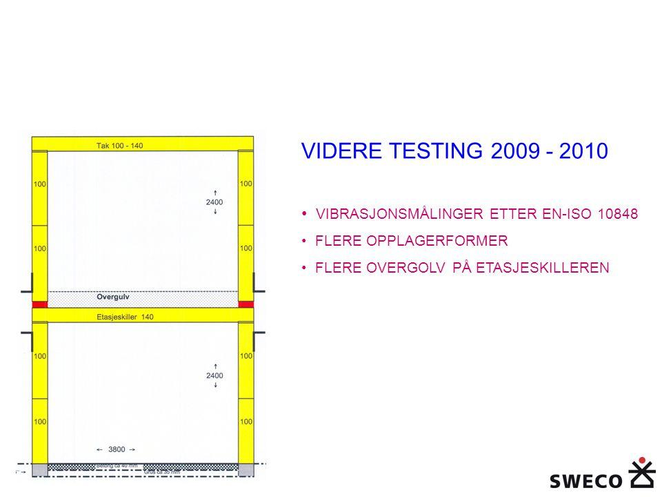 VIDERE TESTING 2009 - 2010 VIBRASJONSMÅLINGER ETTER EN-ISO 10848