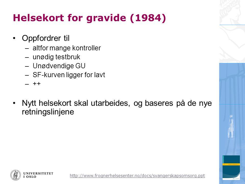 Helsekort for gravide (1984)