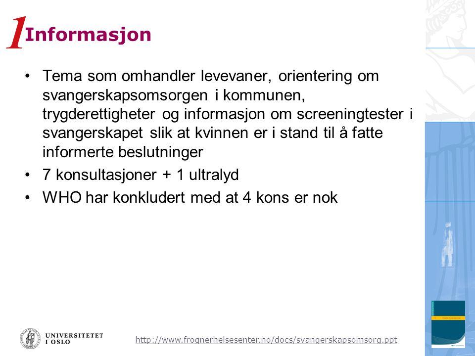 1 Informasjon.
