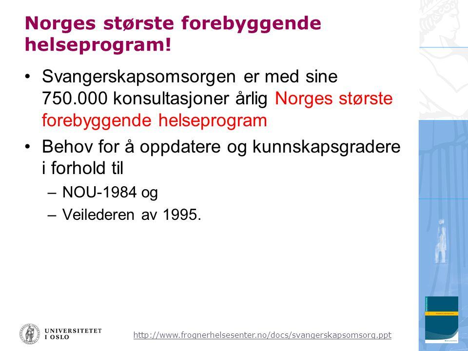 Norges største forebyggende helseprogram!