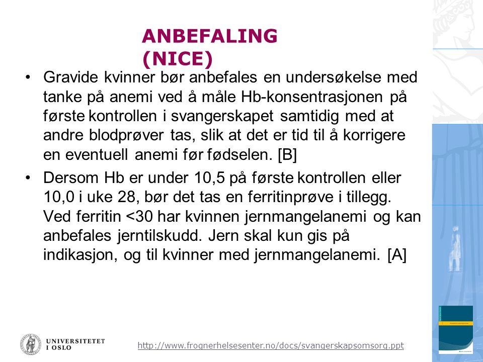 ANBEFALING (NICE)