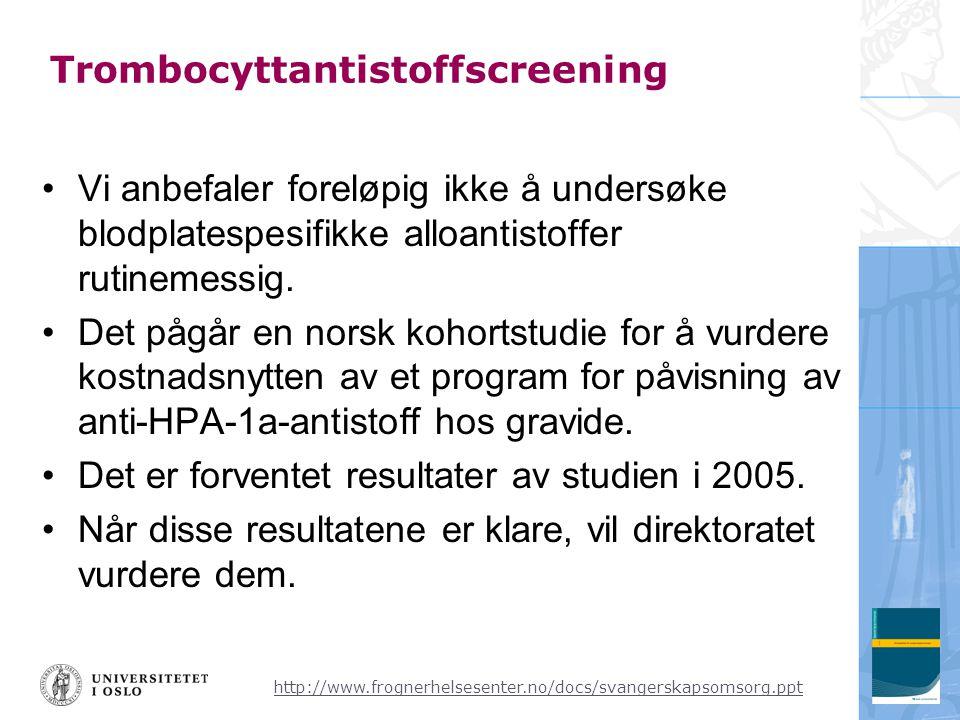 Trombocyttantistoffscreening