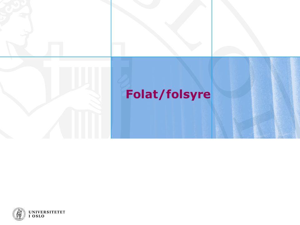 Folat/folsyre