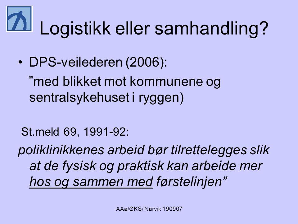 Logistikk eller samhandling