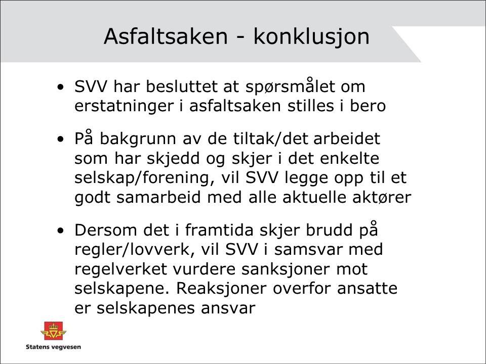 Asfaltsaken - konklusjon