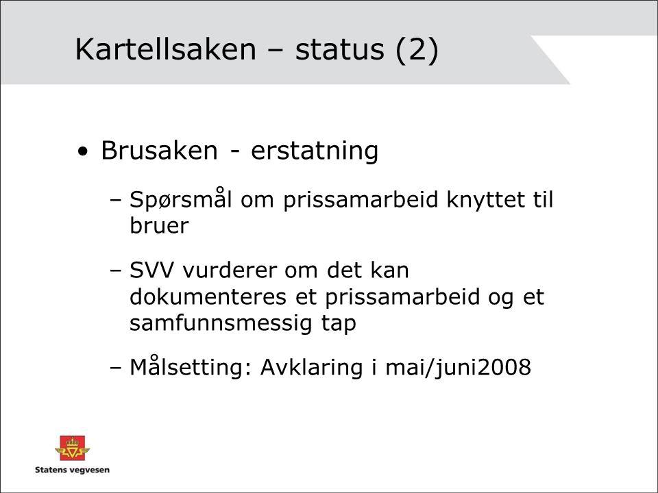 Kartellsaken – status (2)