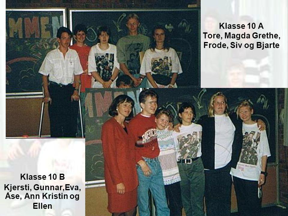 Klasse 10 A Tore, Magda Grethe, Frode, Siv og Bjarte