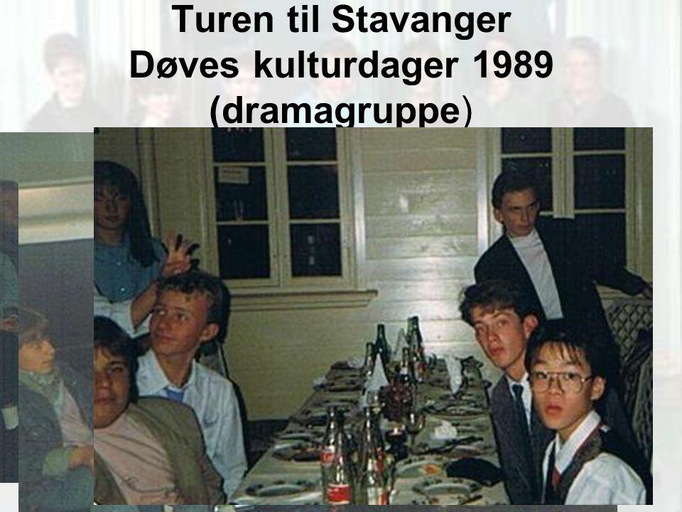 Turen til Stavanger Døves kulturdager 1989 (dramagruppe)