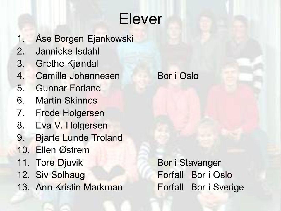 Elever Åse Borgen Ejankowski Jannicke Isdahl Grethe Kjøndal