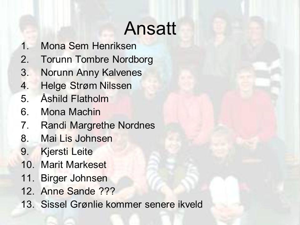 Ansatt Mona Sem Henriksen Torunn Tombre Nordborg Norunn Anny Kalvenes