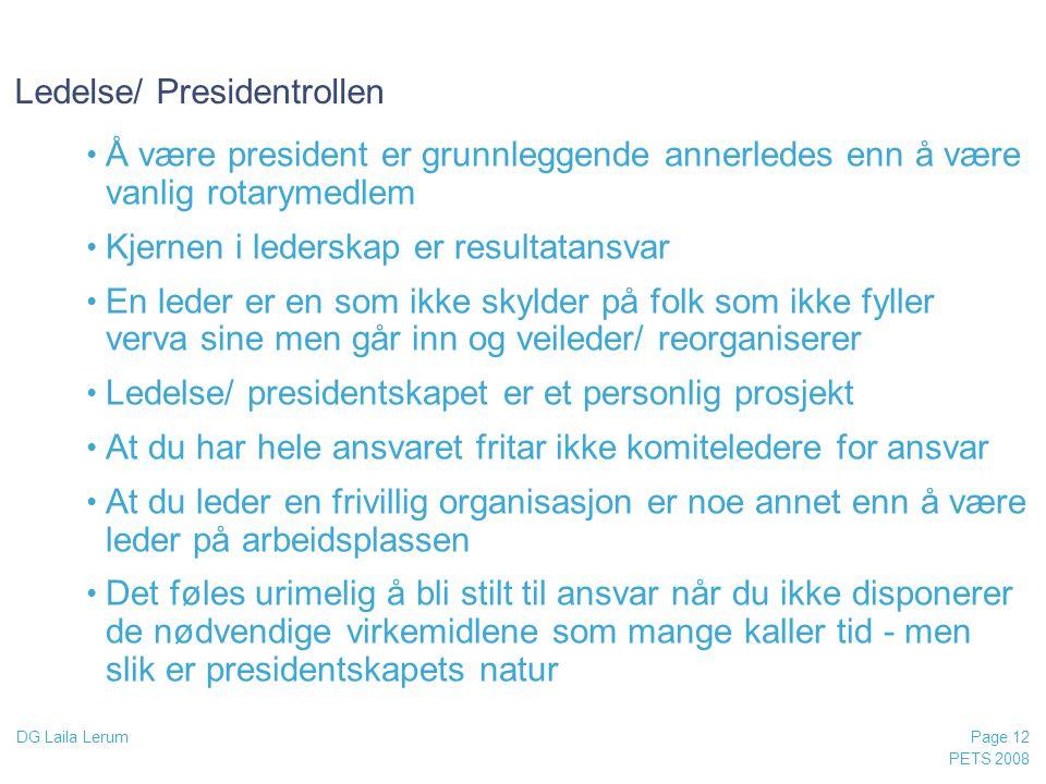 Ledelse/ Presidentrollen