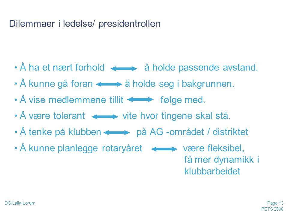 Dilemmaer i ledelse/ presidentrollen