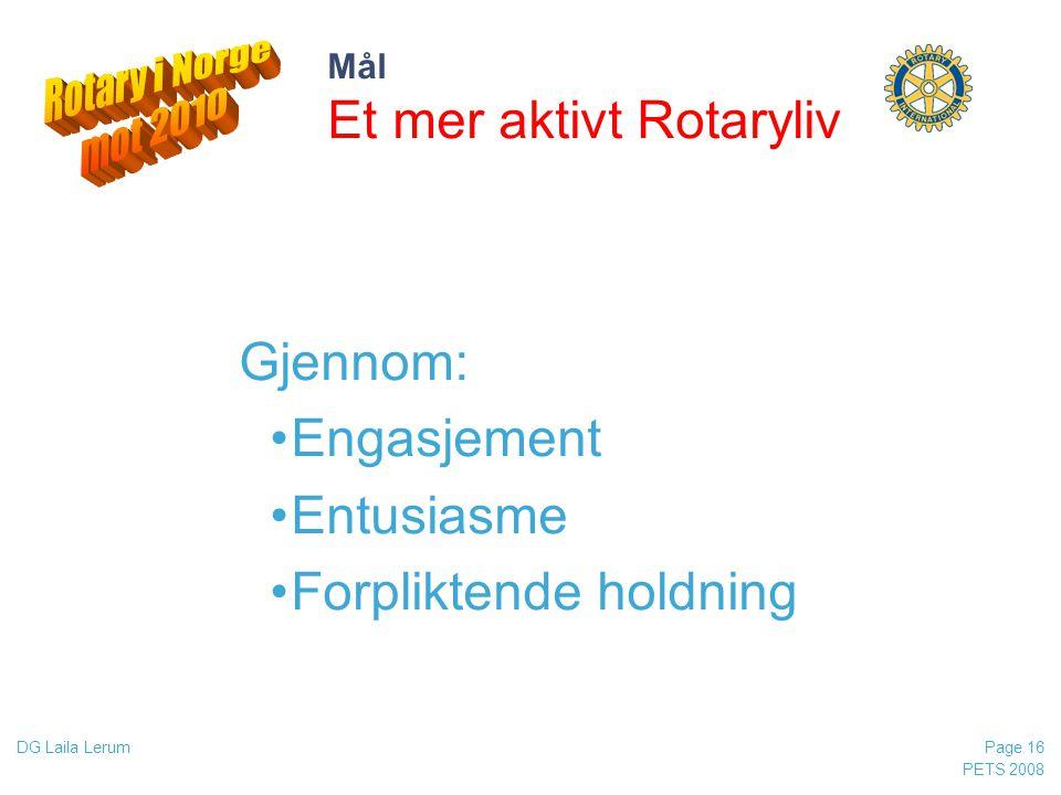 Mål Et mer aktivt Rotaryliv