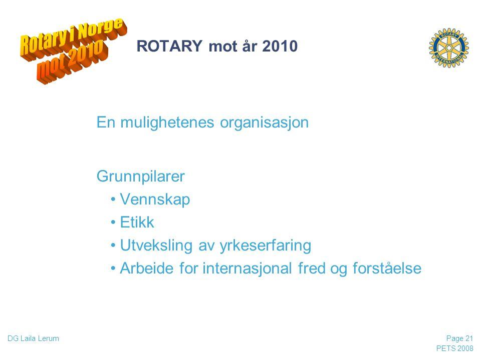 Rotary i Norge mot 2010 ROTARY mot år 2010