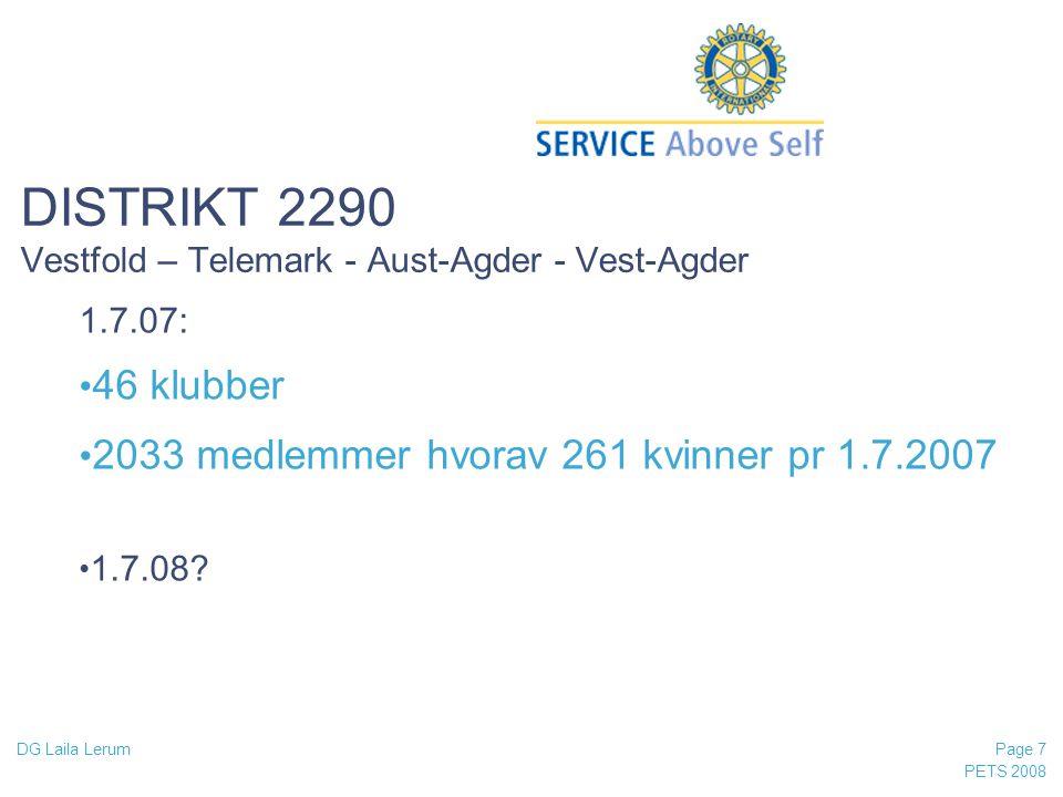 DISTRIKT 2290 Vestfold – Telemark - Aust-Agder - Vest-Agder