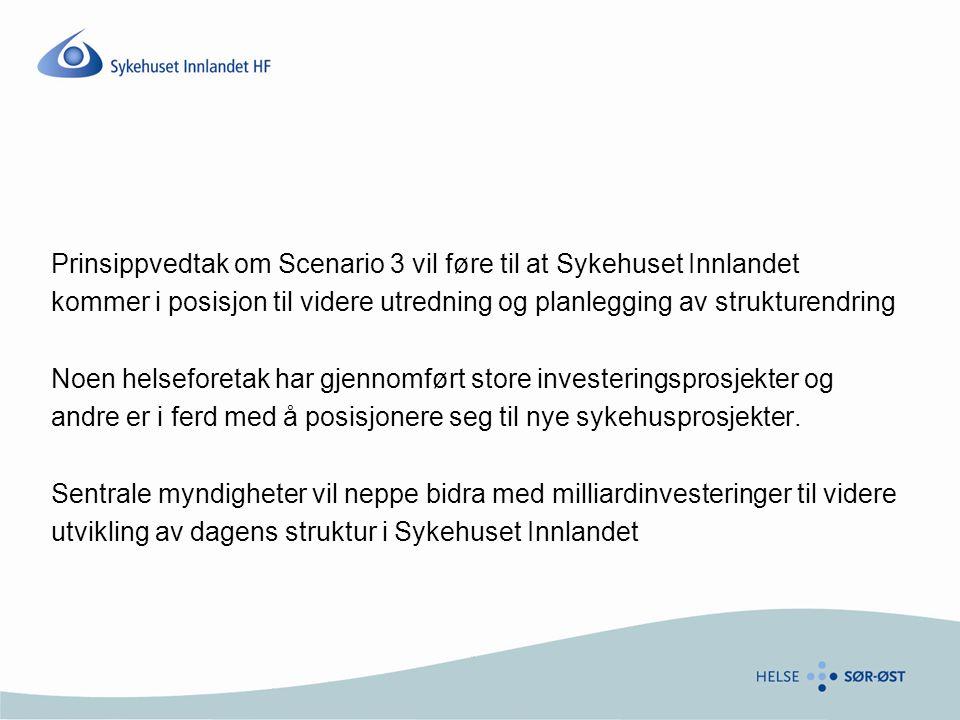 Prinsippvedtak om Scenario 3 vil føre til at Sykehuset Innlandet