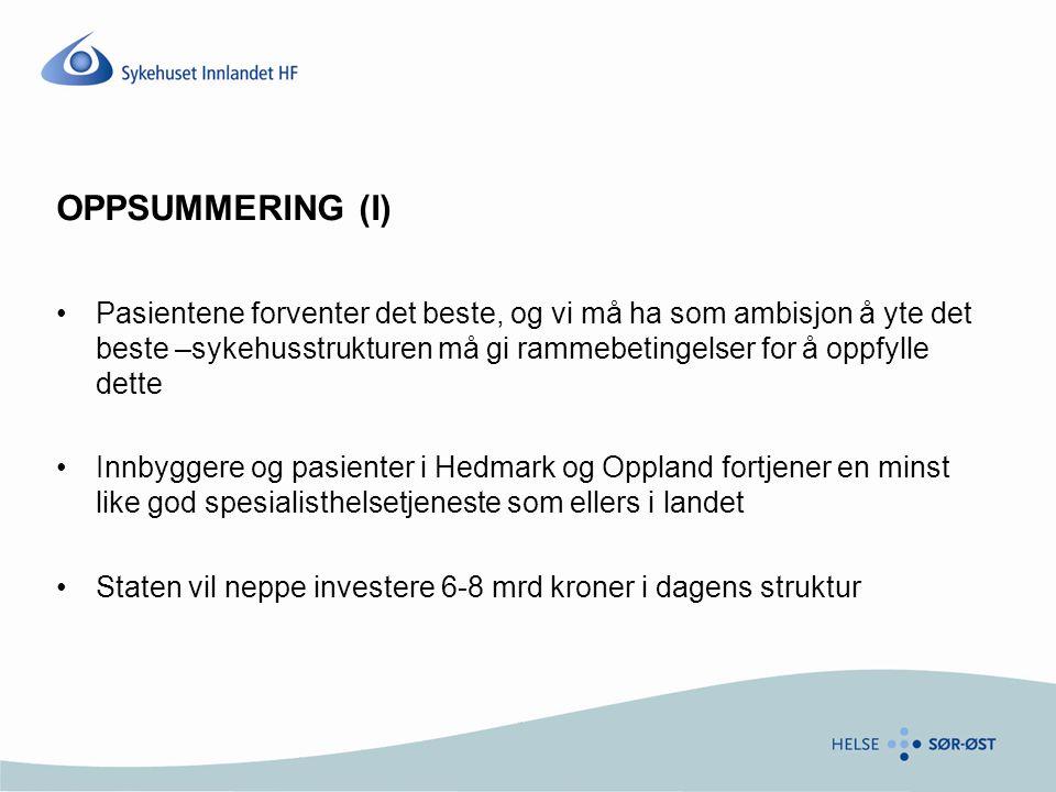 OPPSUMMERING (I)
